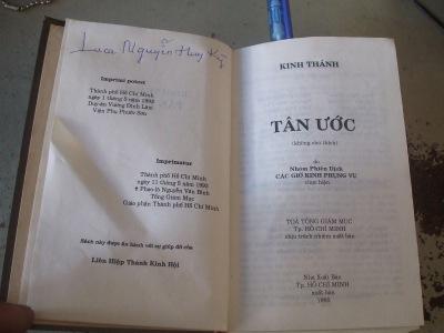 Kinh Thánh do Cha xứ Luca Nguyễn Huy Kỳ ta