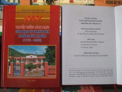 Truyền thống cách mạng của Đảng bộ và nhân dân Phường Bùi Thị Xuân -TP.Quy Nhơn. Chủ biên: Đặng Trung Sinh